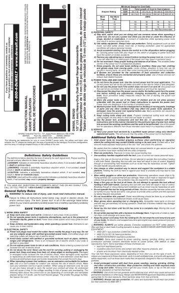 1-800-4-D W A L T • www .dewalt.com