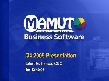 Company Presentation - Mamut
