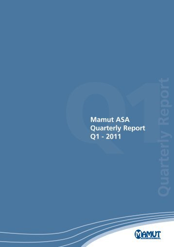 Quarterly Report - Mamut