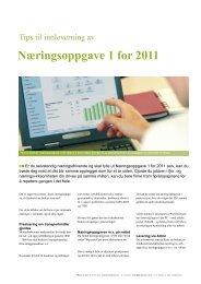 Næringsoppgave 1 for 2011 - Mamut