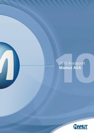 Årsrapport 2010 - Mamut