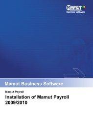 installation of mamut payroll software