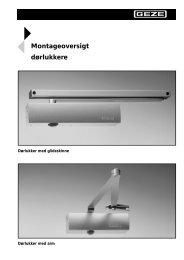 Montage oversigt - Mamut ServiceSuite WebShop