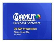 Q2 2006 Presentation - Mamut