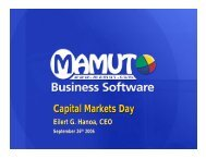 Capital Markets Day - Mamut