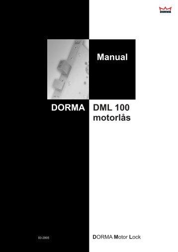 manual dorma dml motorlåser - Mamut ServiceSuite WebShop