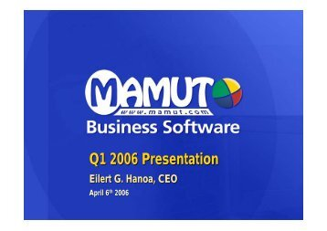 Q1 2006 Presentation - Mamut