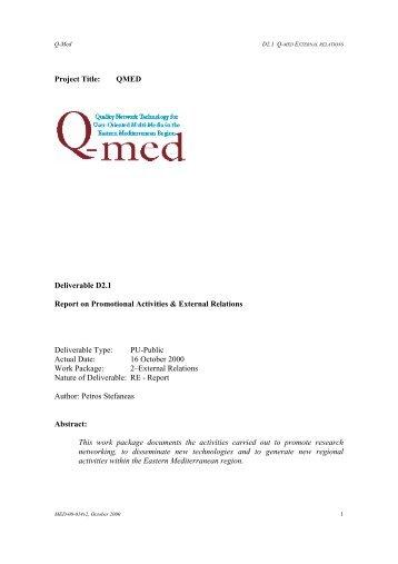 Deliverable D2.1 Report on Promotional Activities ... - Dante Archive