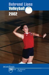 Volleyball Media Guide - Penn State Erie