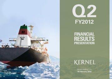 q2 fy2012 results - Kernel