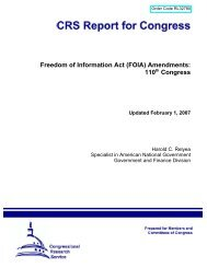 Freedom of Information Act (FOIA) Amendments: 110th ... - Open CRS