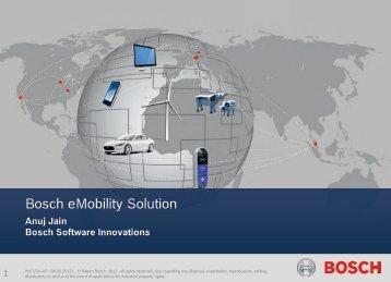 Bosch eMobility Solution - Energy Studies Institute