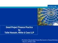 Good Project Finance Practice by Tallat Hussain, White & Case LLP