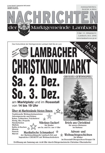 Zentrum - Archiv - Edt bei Lambach