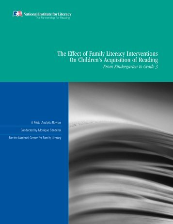 The Effect of Family Literacy Interventions on Children's Acquisition ...