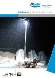 Lightsource   Mât d'éclairage mobile - Euromat