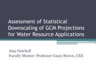 Assessment of Statistical Downscaling of GCM Projections for Water ...