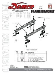 HJ32005 - 8552005 Frame Bracket - Demco Products
