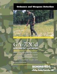 GA-72Cd Military Brochure - Schonstedt Instrument Company