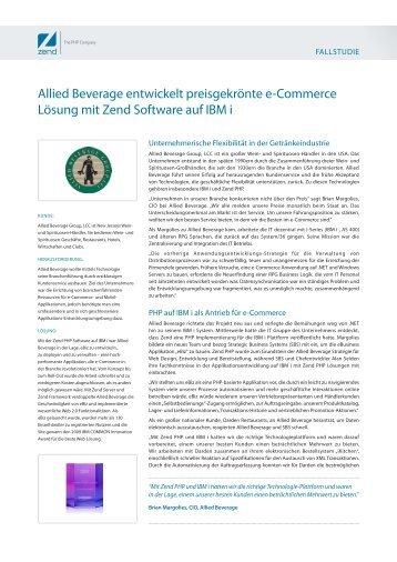 Allied Beverage entwickelt preisgekrönte e-Commerce Lösung mit ...
