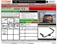 Installation Instructions - CURT Manufacturing