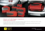 Suitcase set for the luggage compartment Kofferset für Kofferraum