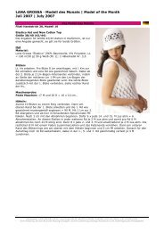 LANA GROSSA · Modell des Monats | Model of the Month Juli 2007 ...