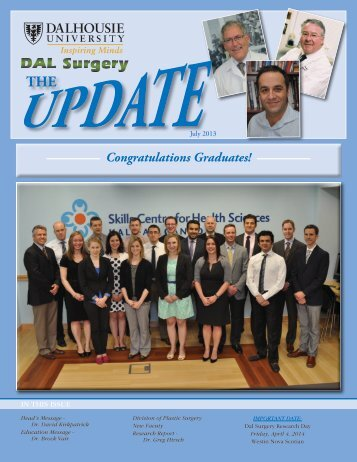 Congratulations Graduates! - Dalhousie Medical School Surgery ...