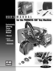 Promatic-100 Key Machine User Manual - Hykokeys.com