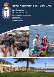 Fee Schedule - Royal Freshwater Bay Yacht Club