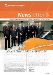 NEWSLÉTTER 10-07.indd - Valmet Automotive