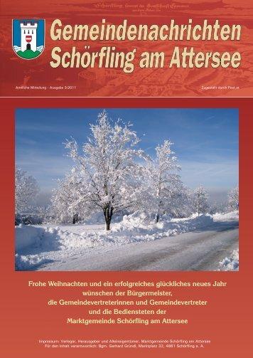 Gemeindenachrichten 03/2011 - Schörfling am Attersee