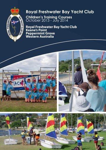 Children's Training Program 2013/14 - Royal Freshwater Bay Yacht ...