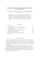 COEFFICIENT QUANTIZATION FOR FRAMES IN BANACH ...