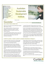 June 2010 - Australian Sustainable Development Institute - Curtin ...