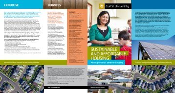 SUSTAINABLE AND AFFORDABLE HOUSINg - Australian ...
