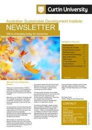 March 2012 - Australian Sustainable Development Institute - Curtin ...