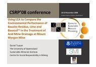 CSRP'08 conference 18-19 November 2008