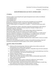 Koolipsühholoogia kutsete andmise kord - Eesti Psühholoogide Liit