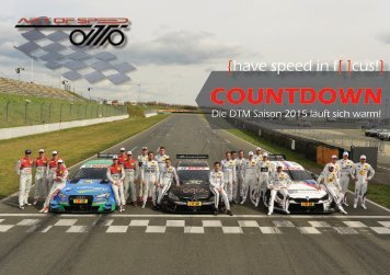 {have speed in f[ ]cus!} COUNTDOWN - Die DTM 2015 läuft sich warm!