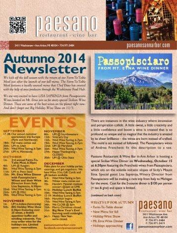 Newsletter (PDF) - Paesano