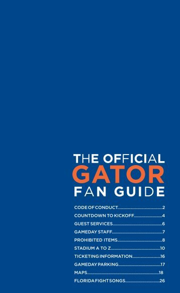 Stadium Guide - Gator Boosters, Inc.