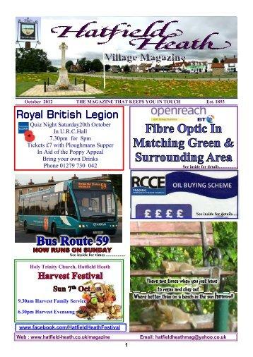 October2012 Edition - Hatfield Heath Village Magazine