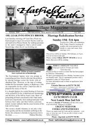 February2009 Edition - Hatfield Heath Village Magazine