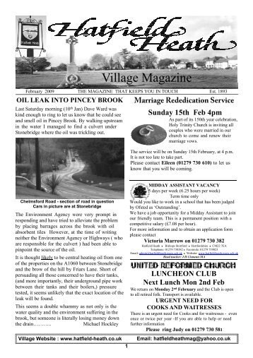 February2009 Edition - Hatfield Heath Village Magazine