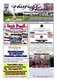 June2013 Edition - Hatfield Heath Village Magazine