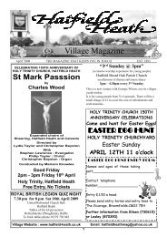 April2009 Edition - Hatfield Heath Village Magazine
