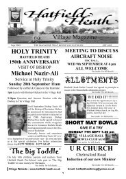 September2009 Edition - Hatfield Heath Village Magazine