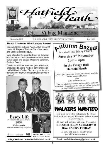 November2007 Edition - Hatfield Heath Village Magazine