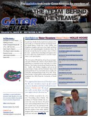 Theexclusivelook inside Gator Athletics for members of f